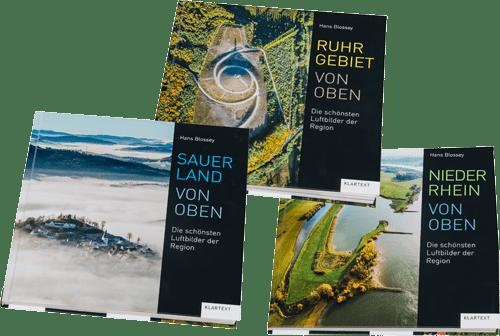 Sauerland Ruhrgebiet Niederrhein von Oben Hans Blossey Luftbilder Bildband