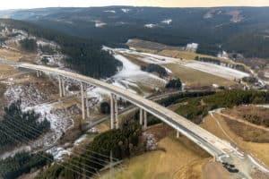 Ausbau Autobahn A46 Talbrücke Nuttlar, höchste Brücke in Nordrhein-Westfalen in Bestwig
