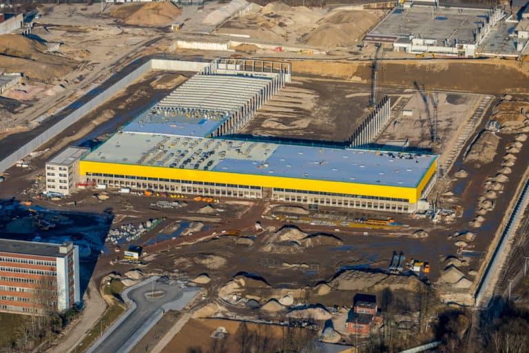 Neues DHL-Logistikzentrum auf der ehmaligen OPEL-Werk 1 Fläche jetzt MARK 51°7 in Bochum in NRW