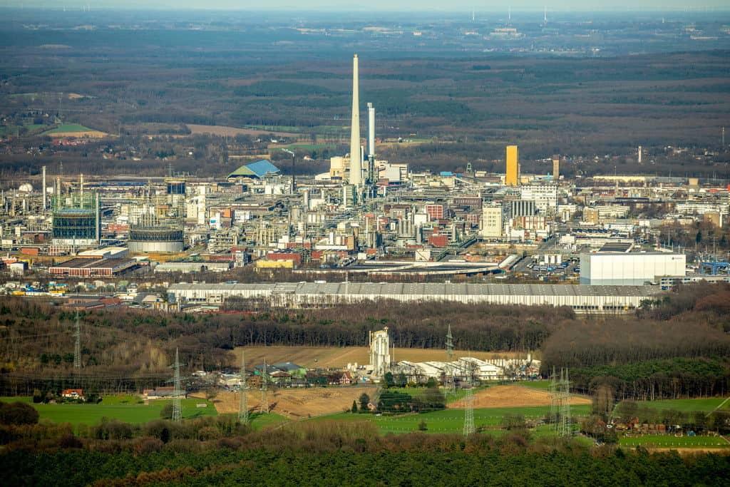 Chemiepark Marl ,ehemals Chemische Werke Hüls AG , Industriepark, Chemie-Standort, in Marl in NRW