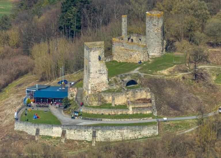 Kugelsburg,Cafe & Restaurant Zur Kugelsburg, in Volkmarsen, Landkreis Waldeck-Frankenberg, Hessen, Hessen, Deutschland