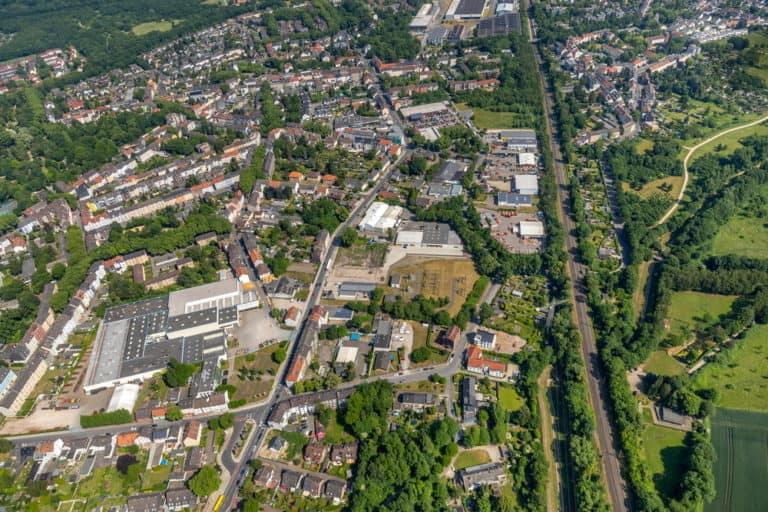 Gewerbegebiet Achternbergstraße in Rotthausen, Gelsenkirchen, Ruhrgebiet, Nordrhein-Westfalen, Deutschland